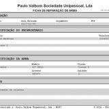 Ficha de Reparação de Arma para impressão